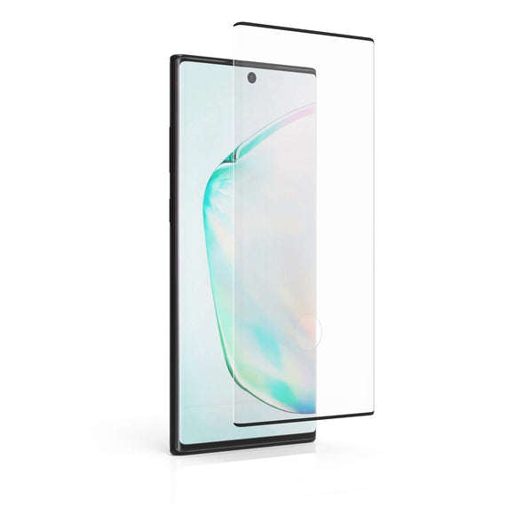 PureGear Compatible with Samsung Galaxy Note10+ Tempered Glass Screen Protector with Fingerprint Sensor Ready Cutout, Self Alignment Tray, Touch and Swipe Precision, Premium Protection, Case Friendly