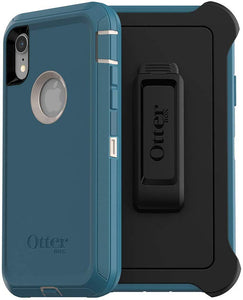 OtterBox Defender Series SCREENLESS Edition Case for iPhone Xr - Retail Packaging - Big SUR (Pale Beige/Corsair)