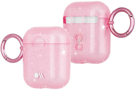 Case Mate Hook Ups for AirPods 1/2 Sheer Crystal/Pink