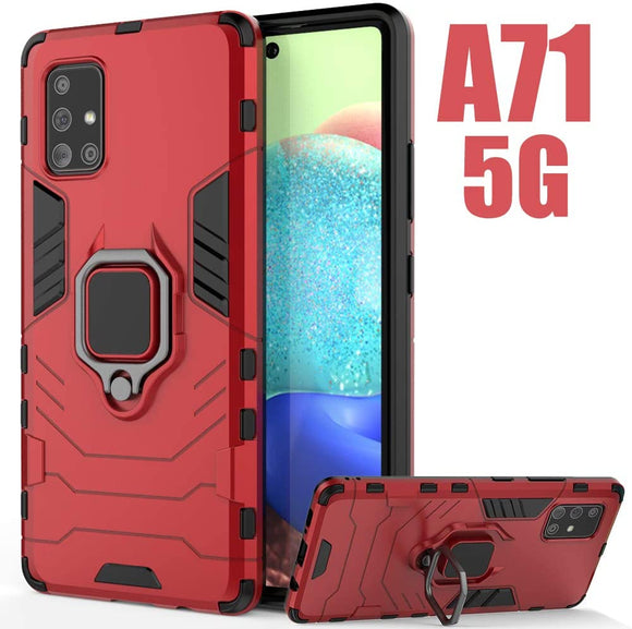 Samsung Galaxy A71 5G Magnetic Ring Case Red