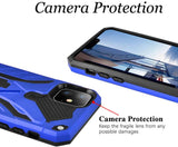 "iPhone 11 Pro Max 6.5"" Case,Dual Layers Armor Case, Heavy Duty Protective Shockproof Resistant Rugged Case with Built-in Kickstand (Blue, for 6.5"")"