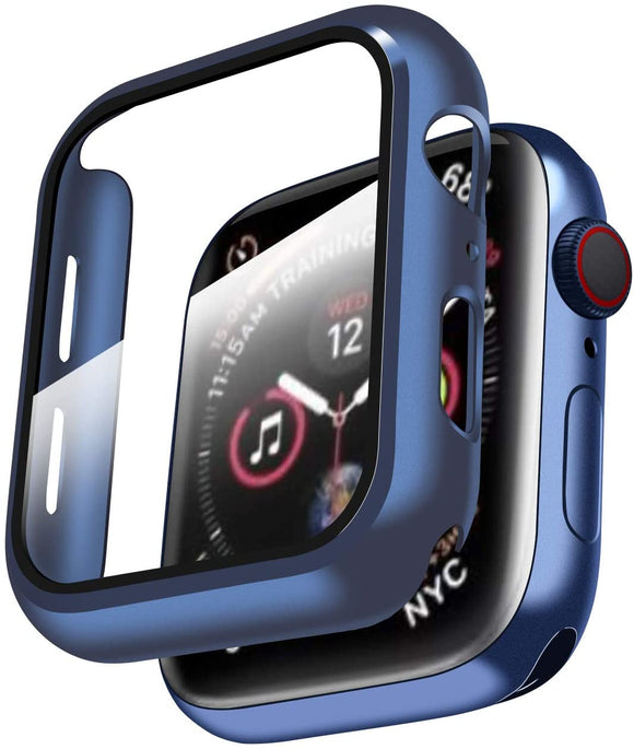 Apple Watch Glass Protector Case Cover Size 40mm Blue