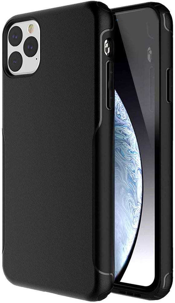 iPhone 11 PRO Case,Scratch Resistant Hard PC+ TPE Bumper Shockproof Rugged Protective Case-Black