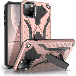 "iPhone 11 Pro 5.8"" Case,Dual Layers Armor Case, Heavy Duty Protective Shockproof Resistant Rugged Case with Built-in Kickstand (Rose Gold, for 5.8"")"