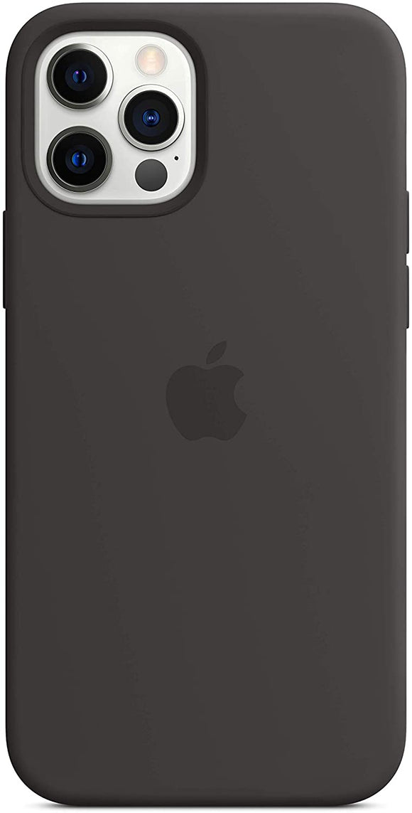 Apple - iPhone 12/12 Pro Silicone Case with MagSafe - Black