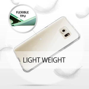 Galaxy S6 Edge Plus Case, [Thin Slim] GOOSPERY [Flexible] Clear Jelly Rubber TPU Case [Lightweight] Bumper Cover [Impact Resistant] for Samsung Galaxy S6 Edge Plus (Clear)