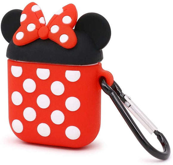 Airpods 1/2 Silicone Skin- Minnie Mouse