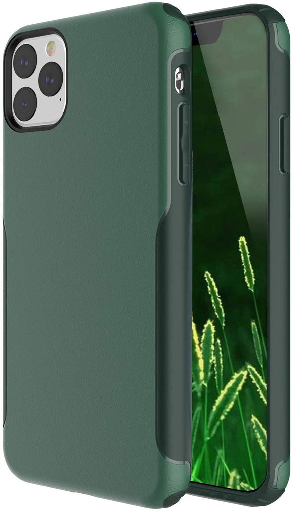 iPhone 11 PRO Case,Scratch Resistant Hard PC+ TPE Bumper Shockproof Rugged Protective Case-Green