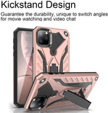 "iPhone 11 Pro Max 6.5"" Case,Dual Layers Armor Case, Heavy Duty Protective Shockproof Resistant Rugged Case with Built-in Kickstand (Rose Gold, for 6.5"")"