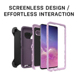 OtterBox Defender Series Case for Galaxy S10+ - Retail Packaging - PURPLE NEBULA (WINSOME ORCHID/NIGHT PURPLE)