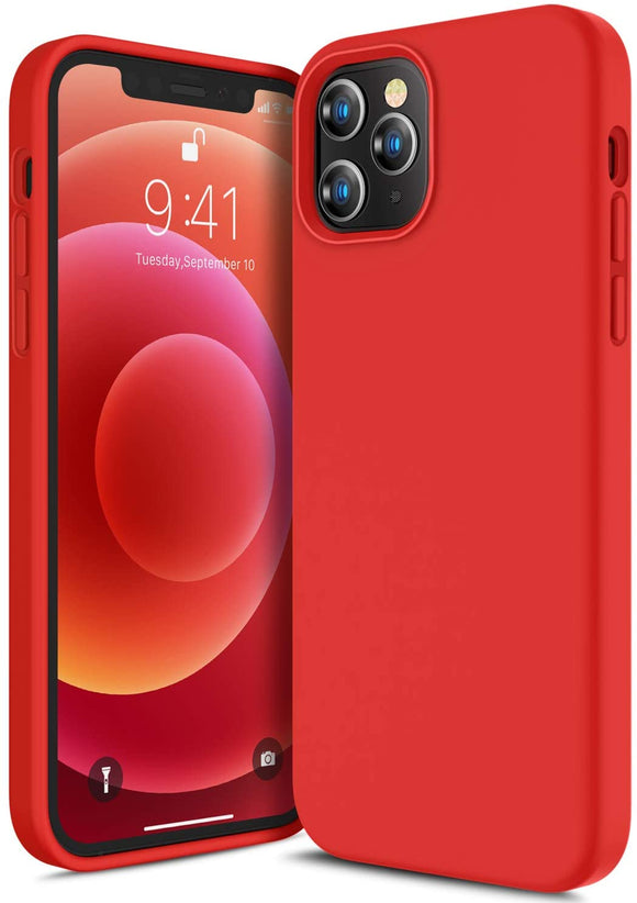 Silicone Case (Red) - iPhone 12/12 Pro