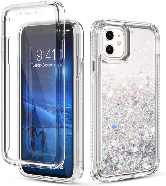 Phone Case Glitter iPhone 12 / 12 Pro (6.1) Case - Silver