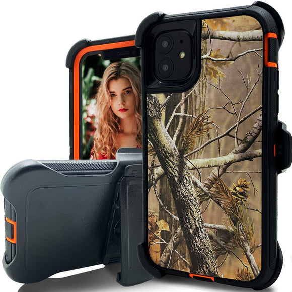 Phone case camo iPhone 11 (Tree Orange)