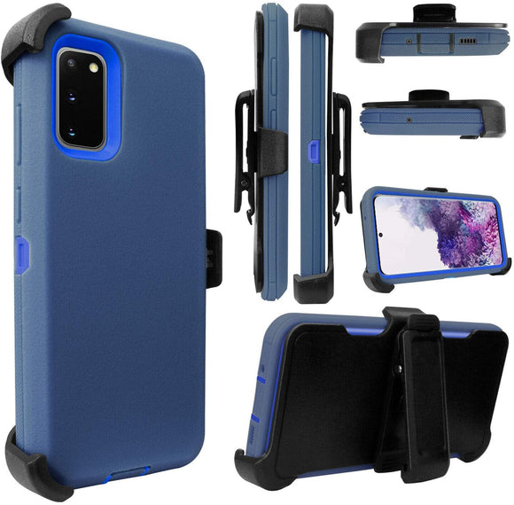 PHONE CASE WITH CLIP S20 ULTRA - BLUE