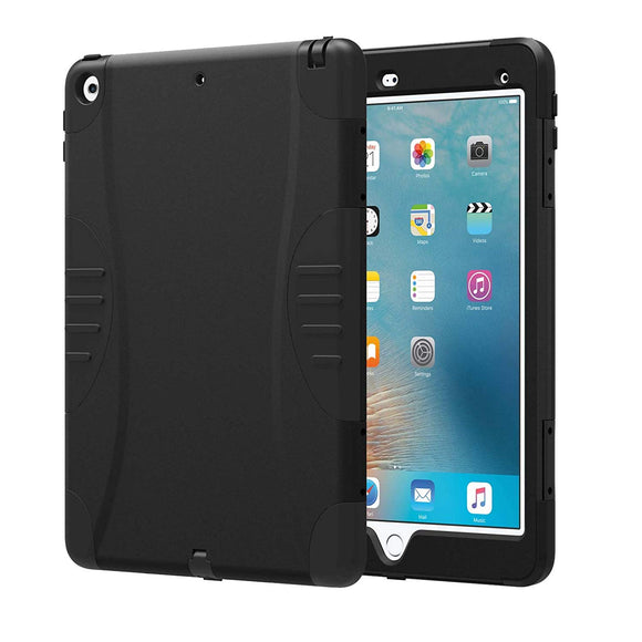 Verizon OEM New iPad 9.7 Inch 2017 Rugged Heavy-Duty Protective Case Cover w/Built-In Screen Protector - Black - In Verizon Retail Packaging