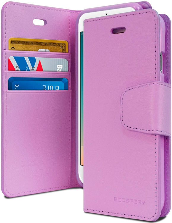 Goospery Sonata Wallet for Apple iPhone 8 Plus Case (2017) iPhone 7 Plus Case (2016) Leather Stand Flip Cover (Purple)