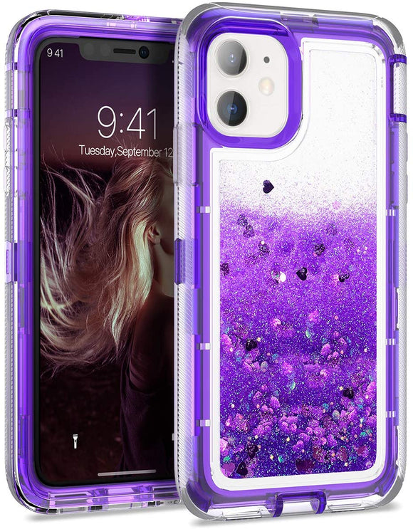 Phone Case Glitter iPhone 12 Pro Max (6.7) Case - Purple