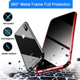 PRIVACY MAGNETIC GLASS CASE IPHONE 12/12PRO 6.1 SILVER