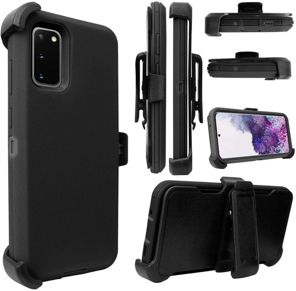 PHONE CASE WITH CLIP S20 ULTRA - BLACK