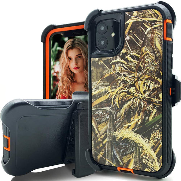 Phone case camo iPhone 11 (Wheat Orange)