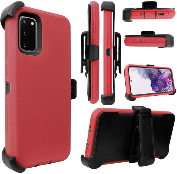 PHONE CASE WITH CLIP S20 ULTRA - RED