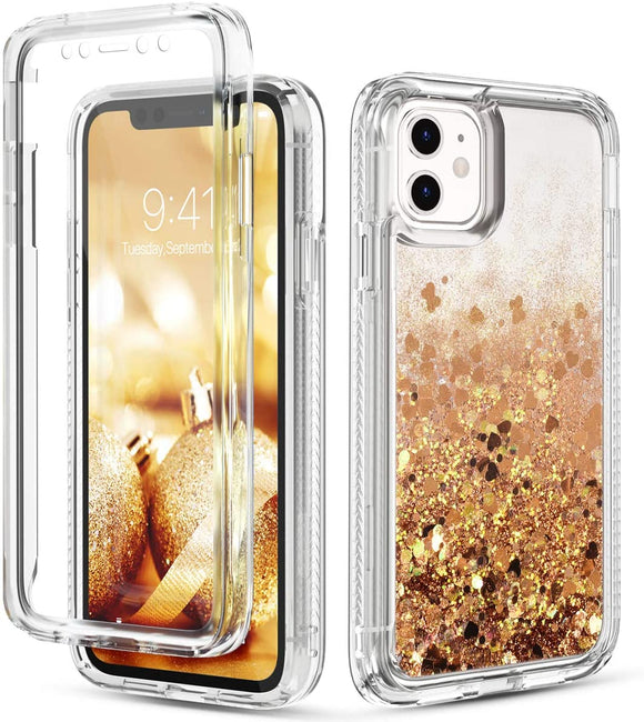 Phone Case Glitter iPhone 12 Pro Max (6.7) Case - Gold
