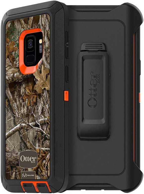 OtterBox DEFENDER SERIES Case for Samsung Galaxy S9 - Retail Packaging - RT BLAZE EDGE (BLAZE ORANGE/BLACK/RT EDGE GRAPHIC)