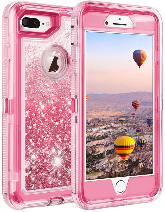 Phone Case Glitter iPhone 7/8 Plus Case - Hot Pink