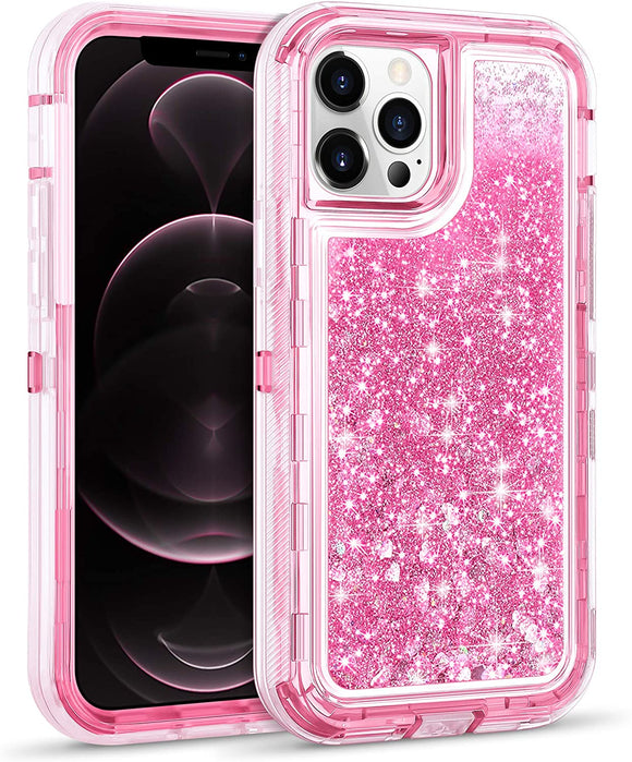 Phone Case Glitter iPhone 12 Pro Max (6.7) Case - Pink