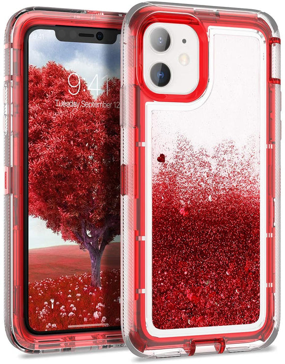 Phone Case Glitter iPhone 12 Pro Max (6.7) Case - Red