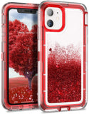 Phone Case Glitter iPhone 12 / 12 Pro (6.1) Case - Red
