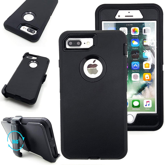 Shockproof Hard Case Cover For Apple iPhone 7PLUS/ 8PLUS with Belt Clip -