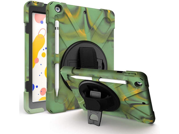 Apple - iPad 10.2 7th Gen 2019 - Shield (with shoulder strap) - Camouflage