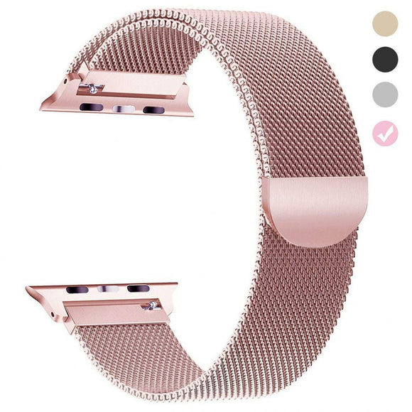 Milanese strap for Apple watch 42mm/44mm Stainless Steel - Rosegold