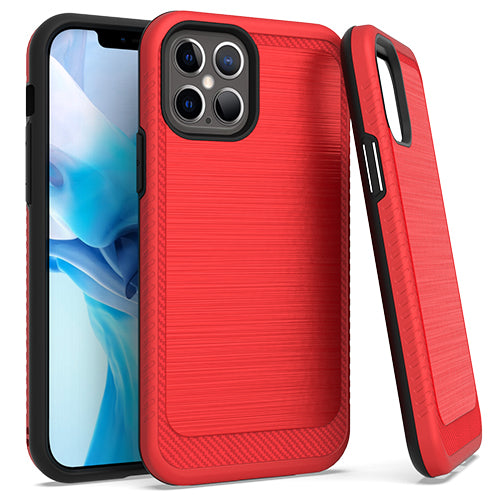 iPhone 12/ 12 Pro 6.1 Brushed Case 3 Red