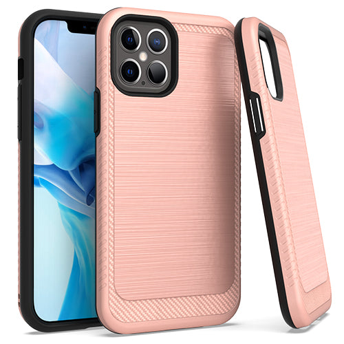 iPhone 12/ 12 Pro 6.1 Brushed Case 3 Rosegold