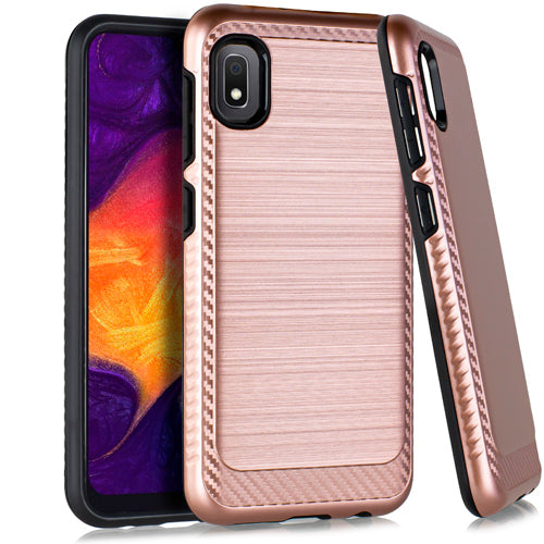 Samsung A10E Brushed Case 3 Rose Gold