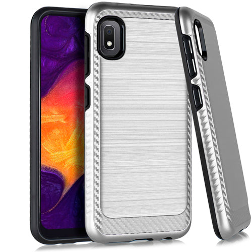 Samsung A10E Brushed Case 3 Silver