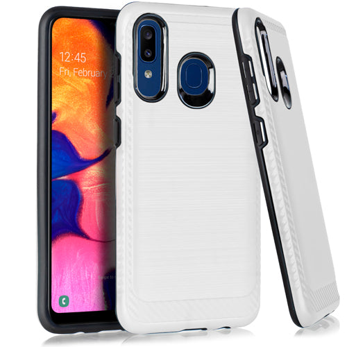 Samsung A20 Brushed Case White