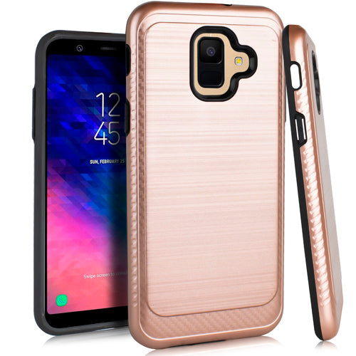 Samsung A6 Brushed Case 3 Rose Gold