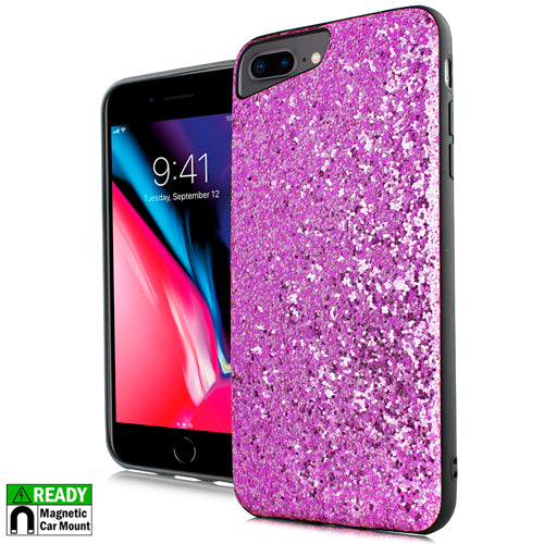 iPhone 8 Plus /7P /6P Chunky Glitter Pink