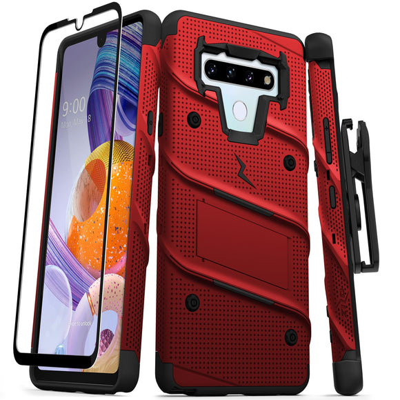ZIZO BOLT SERIES LG STYLO 6 RED & BLACK