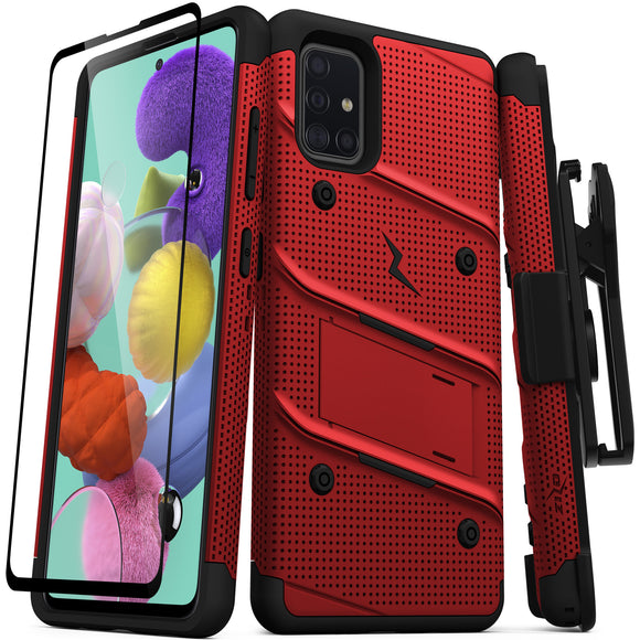 ZIZO BOLT Series Galaxy A51 5G Case - Red & Black