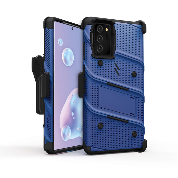 ZIZO BOLT Series Galaxy Note 20 Case - Blue & Black  (NO GLASS)