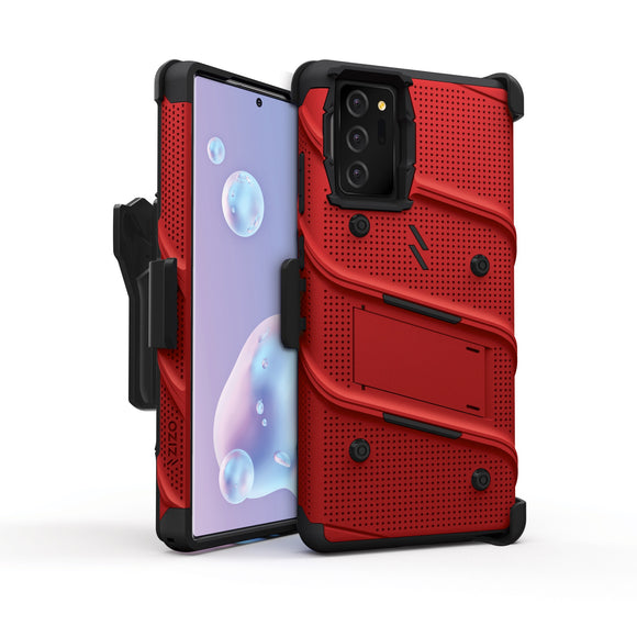 ZIZO BOLT Series Galaxy Note 20 Case - Red & Black  (NO GLASS)
