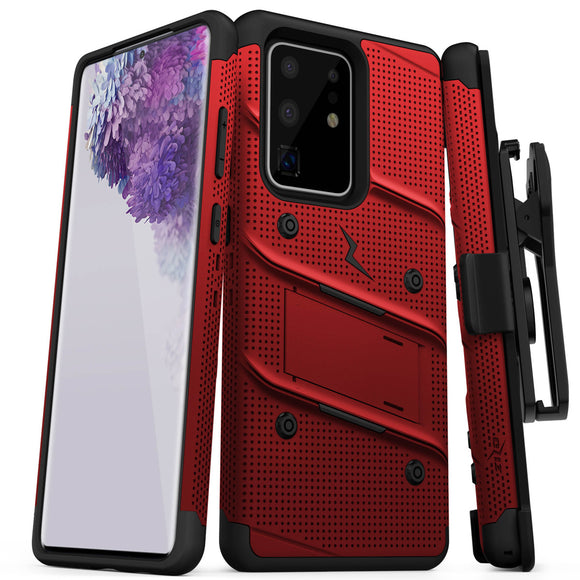 ZIZO BOLT Series Galaxy S20 Ultra Case - Red