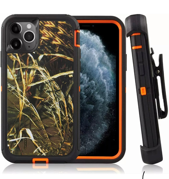 Phone Case iPhone 12 / 12 Pro 6.1 With Belt Clip (Camo)