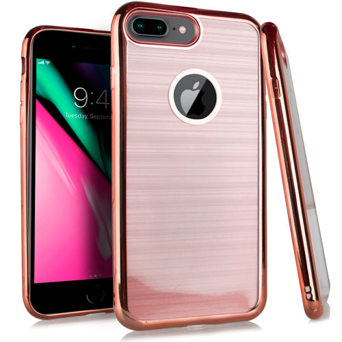 iPhone 8 Plus /7P Crystal Brushed Chrome Rose Gold