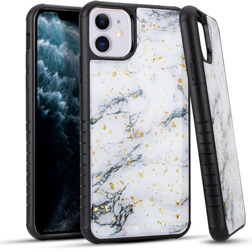 iPhone 11 6.1 Chrome Flake Marble White