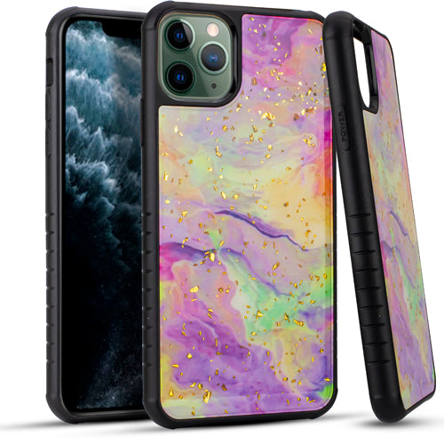 iPhone 11 Pro MAX 6.5 Chrome Flake Marble Rainbow